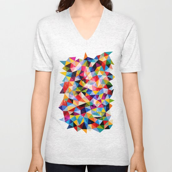 Space Shapes Unisex V-Neck