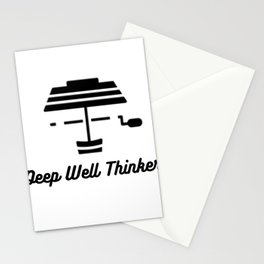 Deep Well Thinker Stationery Cards
