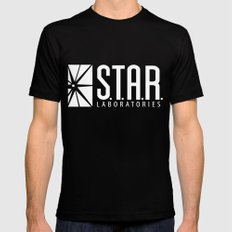 star lab Black Mens Fitted Tee LARGE