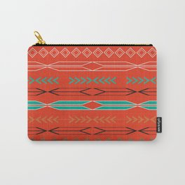Navajo motifs in red Carry-All Pouch