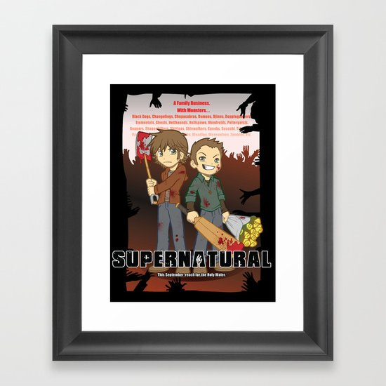 Supernatural - Goin to the Winchesters Framed Art Print