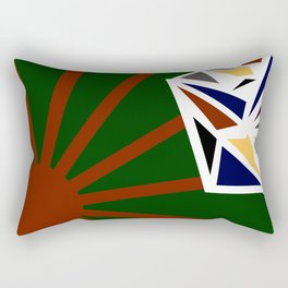Sunrise Diamond Ellipse Rectangular Pillow