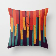 Squared Stripes Throw Pillow