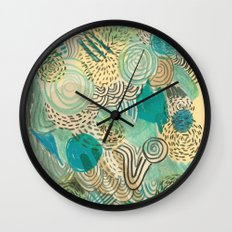 Holidays at the pool Wall Clock
