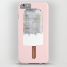 Raw Concrete with White Popsicle iPhone 6s Plus Slim Case