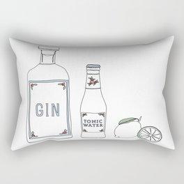 Gin tonic and lime illustration Rectangular Pillow