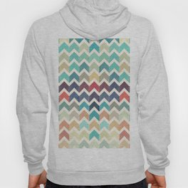 Watercolor Chevron Pattern Hoody
