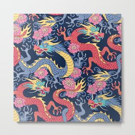 East Dragons Metal Print