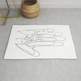 Family Hands and Dog Paw III Rug
