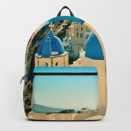 Santorini Greece Famous Blue Domes Backpack