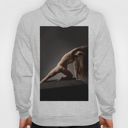 3122s-DEW Fit Young Woman in Training Fine Art Nude Powerful Graceful Figure Hoody
