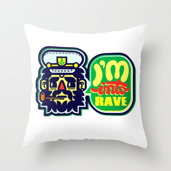 I'm Into Rave Throw Pillow