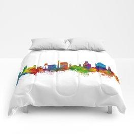 Durham North Carolina Skyline Comforters