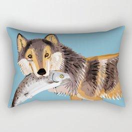 Totem Coastal wolf (Vancouver Wolf) Rectangular Pillow