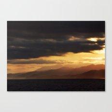 Pacific Mountains Sunrise Canvas Print