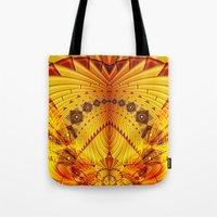 pyramid Tote Bags featuring Pyramid by Christine baessler