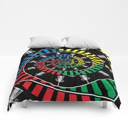 Spinning Disc Golf Baskets Comforters