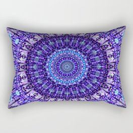Indulgence of lavendery details in the lace mandala Rectangular Pillow