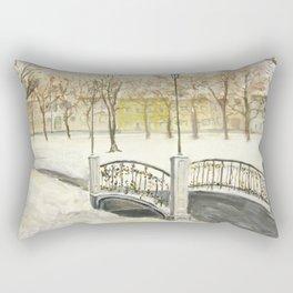 Locks on Little Lovers Bridge Rectangular Pillow