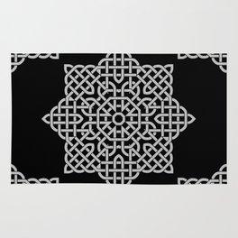 Black and White Celtic Star Rug