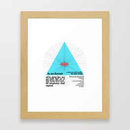 the new illuminatis Framed Art Print