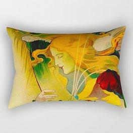 Vintage French Art Nouveau Ad Rectangular Pillow