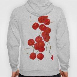 Falling cherries in coral Hoody