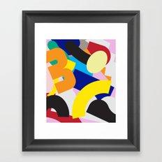 Floating Shapes Framed Art Print
