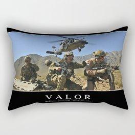 Valor: Inspirational Quote and Motivational Poster Rectangular Pillow