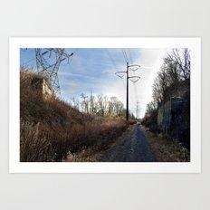 Abandoned Village Backroad Art Print