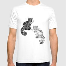 Black Cat White Cat Mens Fitted Tee White MEDIUM