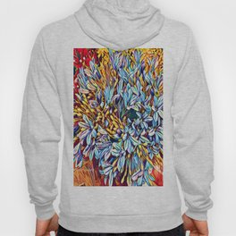 Blues Bouquet with Yellow and Red Hoody