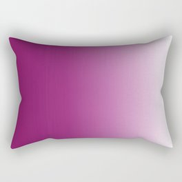 Ombre in Purple White Rectangular Pillow