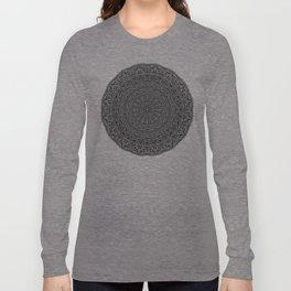 Zen Black and white Mandala Long Sleeve T-shirt