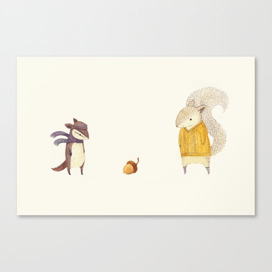 The Last Acorn of Autumn Canvas Print
