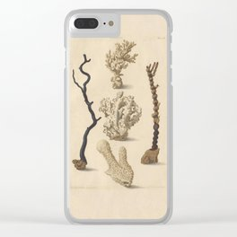 Naturalist Coral Clear iPhone Case