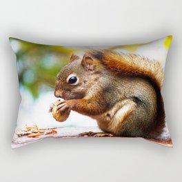 Red Squirrel Thanksgiving Rectangular Pillow