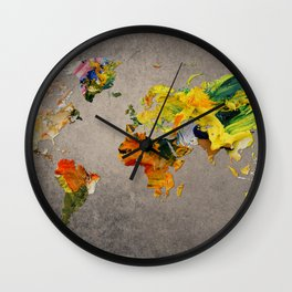 World Map 27 Wall Clock