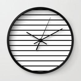 Minimalist Stripes Wall Clock