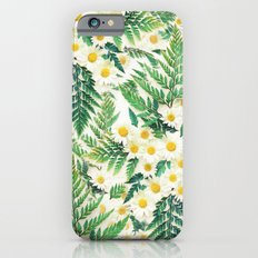 Textured Vintage Daisy and Fern Pattern  Slim Case iPhone 6s