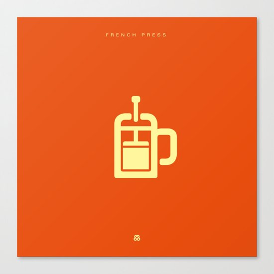 Coffee: The French Press Canvas Print