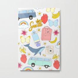 vsco girl - sticker like pattern Metal Print
