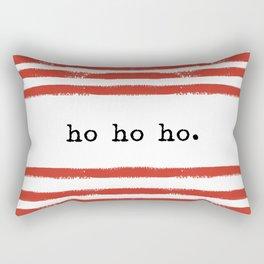 red stripes-ho ho ho Rectangular Pillow