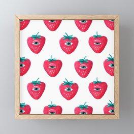Cry Berry Pattern Framed Mini Art Print