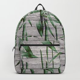 Winter Bamboo Leaves Backpack