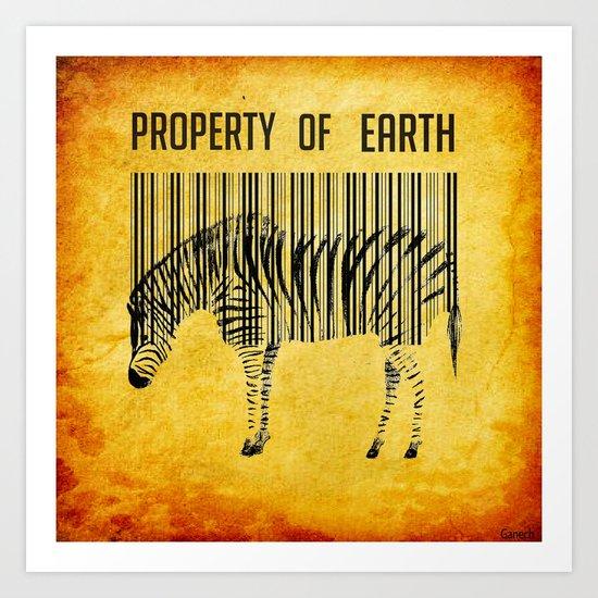 The encoded zebra Art Print