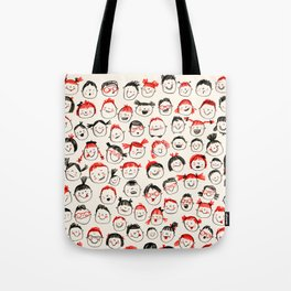 Silly Faces Tote Bag