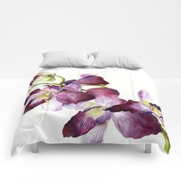 Radiant Orchids: Magenta Dendrobiums (Flipped Orientation) Comforters