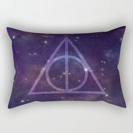 Deathly Hallows in Space Rectangular Pillow