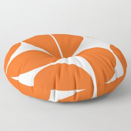 Mid Century Modern Orange Square Floor Pillow